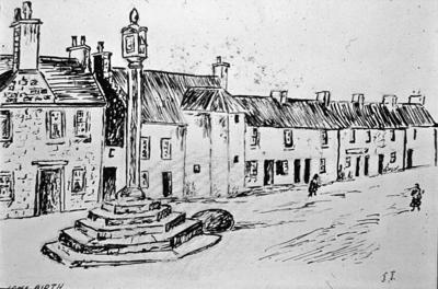P01649; Sketch of Airth : Mercat cross