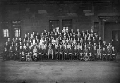 P13280; Bo'ness Co-op workers on 70th anniversary