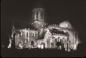 P10410; Falkirk Parish Church floodlit by gaslight