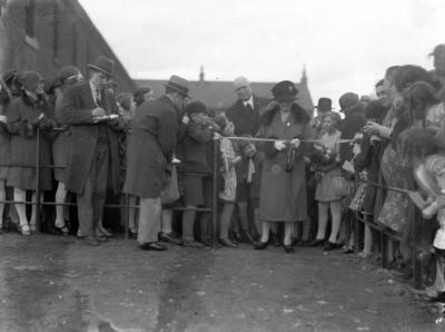 P56670; Mrs F L Burder opening MacLaren Children's Playground