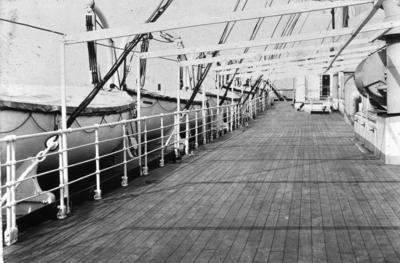 P01979; Promenade deck of liner