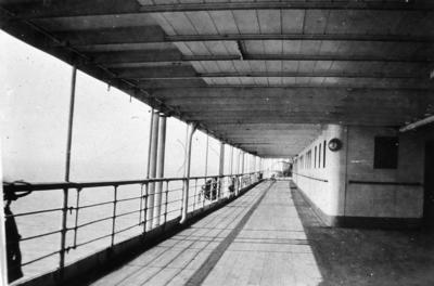 P01980; Promenade deck of liner