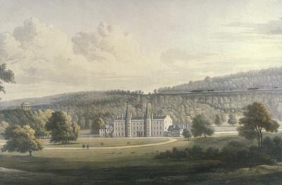 P12238; Drawing of Callendar Estate by Nasmyth with line of Union Canal