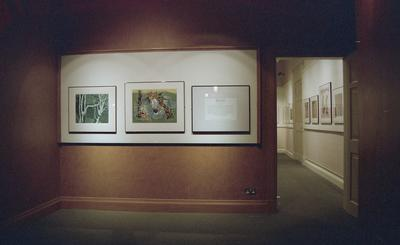 """P57002; Exhibition """"Chinese Prints"""" in small gallery"""