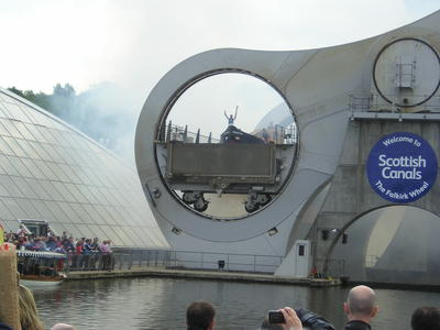 P57348; Olympic Torch Relay at the Falkirk Wheel