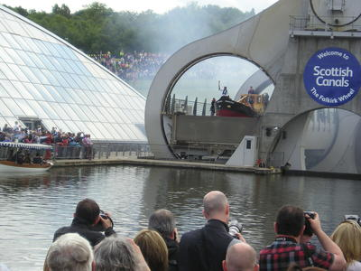 P57349; Olympic Torch Relay at the Falkirk Wheel