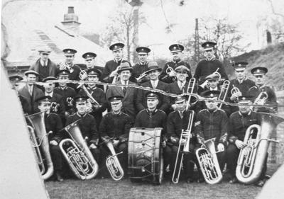 P15708; Camelon Silver Band at Camelon Bowling Green opening