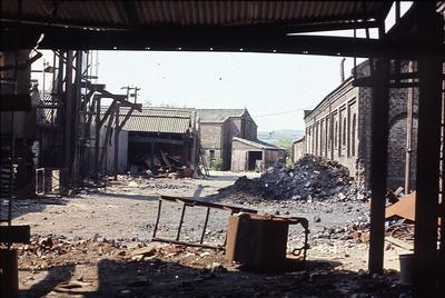 P01360; Derelict premises, Caledonia Works, Bonnybridge
