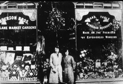 P02135; Henderson Brothers floristry and shop, High Street, Falkirk