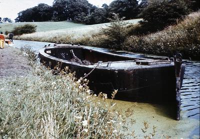 P01054; Barge, Union Canal, Woodcockdale, West Lothian