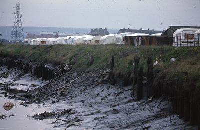 P02745; View of Thomson Caravans at Carronshore