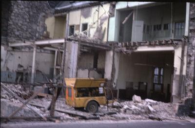 P21769; Demolition of old Post Office, Vicar St, Falkirk
