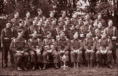 P26003; Slamannan Home Guard - group photograph