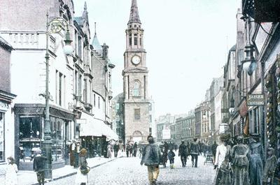 """P07024; """"Falkirk High Street, looking west"""""""