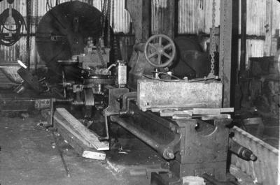 P07825; Interior, engineering workshop at Dundas Engineering Works