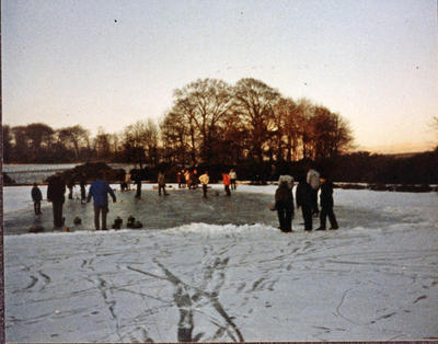 P27576; Curling at Larbert House Pond.