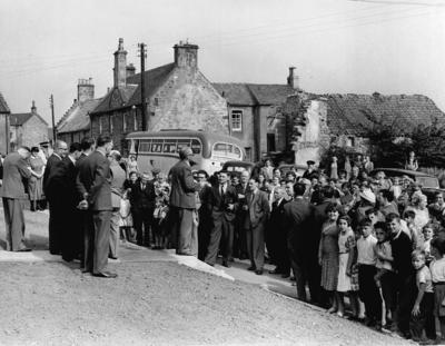 P24763; Airth Re-development Scheme. Opening of first group of houses.