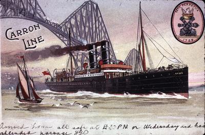 P05687; Carron Line postcard showing SS Avon