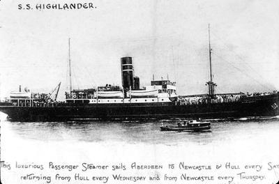 P05689; Postcard showing SS Highlander