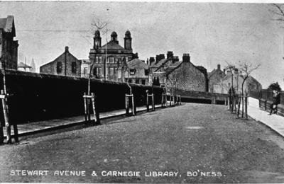 P05910; Stewart Avenue and Carnegie Library, Bo'ness