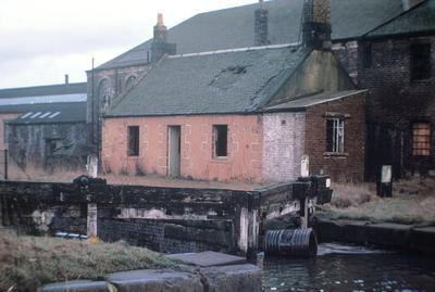 P06265; Derelict lock gate, lock 5, Forth and Clyde Canal.