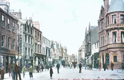 """P07025; """"Falkirk High Street, looking west"""""""