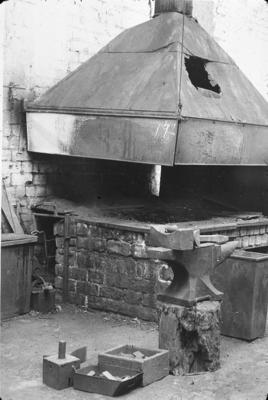 P07721; Blacksmith's forge at Caledonia Works, Bonnybridge