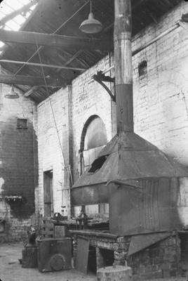 P07722; Blacksmith's forge at Caledonia Works, Bonnybridge