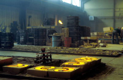 P04350; Castings cooling at Tayforth Foundry
