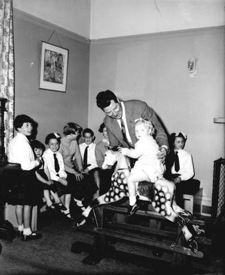 P33105; Max Bygraves with children