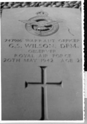 P35543; War grave of Graham Sharp Wilson of Camelon.