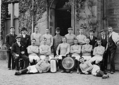"""P35563; """"Camelon Football Club.  Winners of Falkirk And District Cottage Hospital Challenge Shield, 1902-1903"""""""