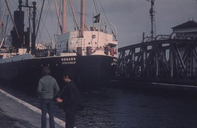 "P35892; ""Grangemouth Docks 23 5 70.  Swing bridge open"""