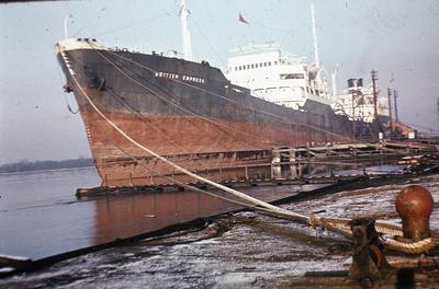 P02413; Oil tanker 'British Empress' at Grangemouth Docks