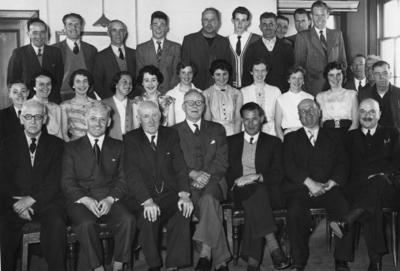 P41180; Group photograph of Gibson and Rankine office workers.