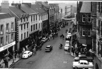 """P27403; """"High Street Falkirk, looking west from the Steeple"""""""