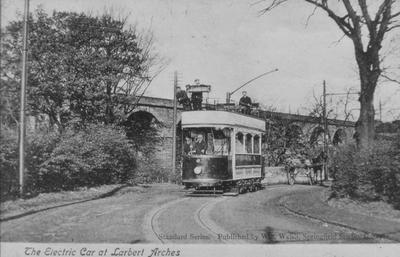 P13255; Tram near Larbert viaduct