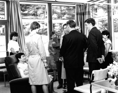 P30901; Princess Anne's visit to Strathcarron Hospice