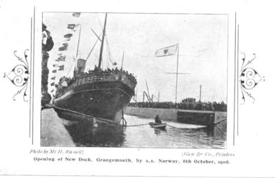 P34131; Opening of New Dock, Grangemouth, by S.S. Norway, 8th October 1906