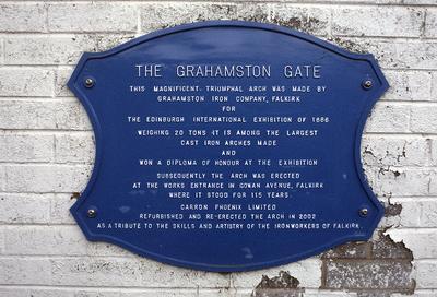 P36754; Explanatory plaque at Grahamston Gates