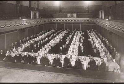 P19211; Carron Co employees in Dobbie Hall, Larbert