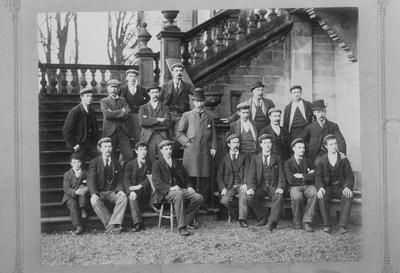 """P13892; """"Employees of Mr John Graham at Callendar House, Feb 1899"""""""