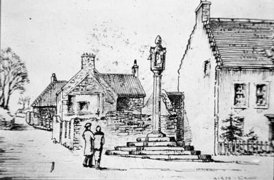P01647; Sketch of Airth: mercat cross