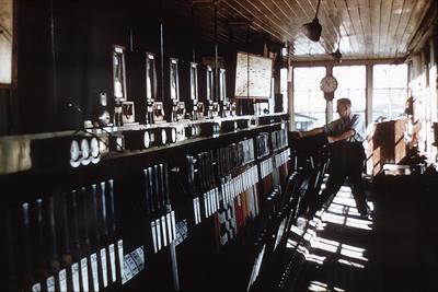 P01447; Interior of signal box