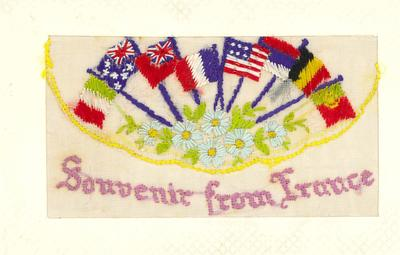A1890.005; Embroidered Greetings Card
