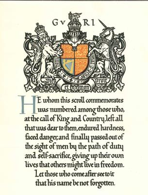 A1890.011; Memorial Scroll and accompanying papers