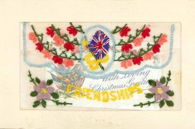 A1890.022; Embroidered Greetings Card