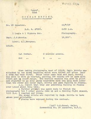A1753.006; Combat Report