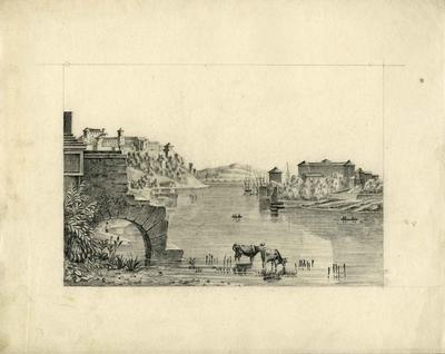 A2265.009; Pencil drawing of landscape