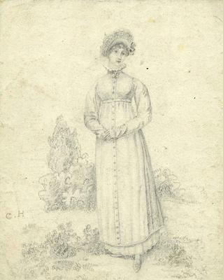 A2265.010; Pencil drawing of woman